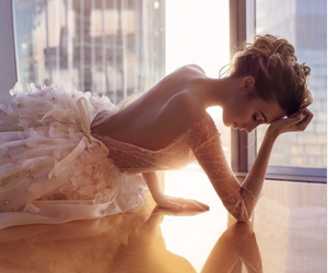 blonde, wedding, and wedding dress image
