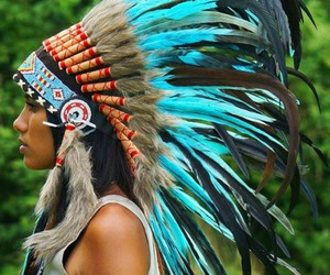 american, headdress, and native image