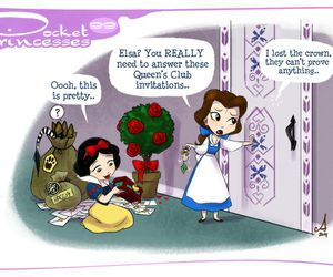 disney, belle, and snow white image
