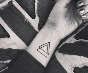 tattoo, triangle, and tatto image