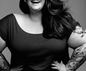 beauty, tattoo, and curvy image