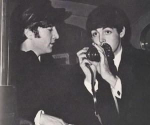 john, bealtes, and 60's image