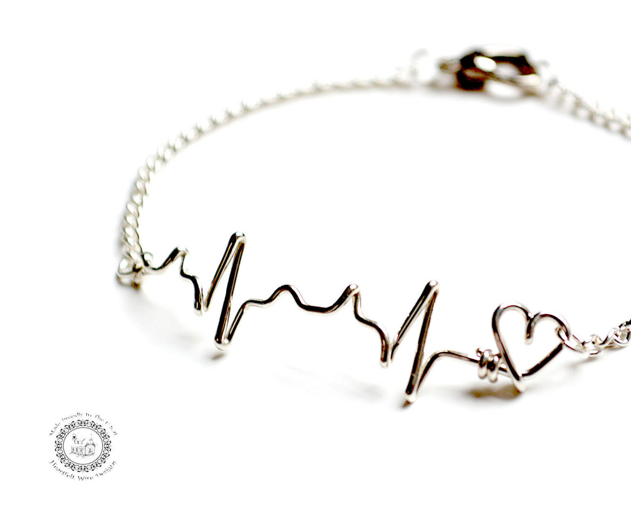 Ekg Heartbeat Bracelet By