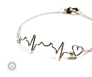 bracelet, ekg, and heartbeat image