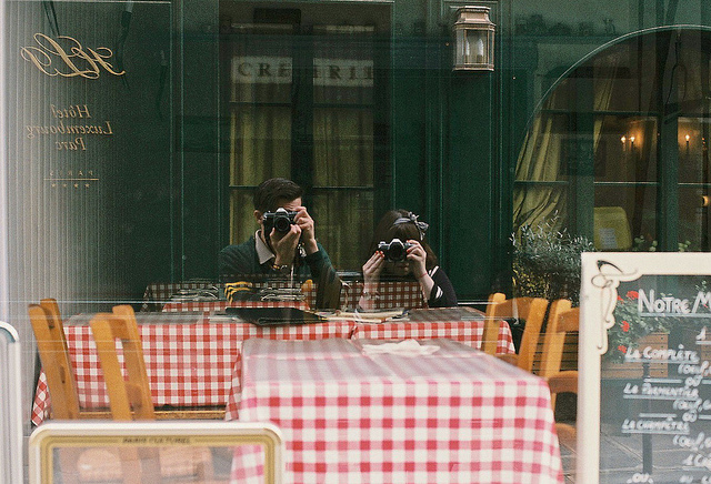 photography, couple, and paris image