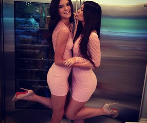 kylie jenner, kendall jenner, and pink image