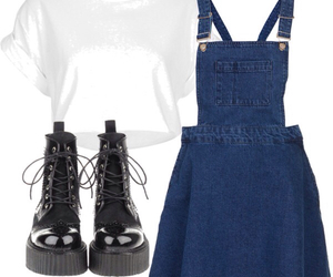 doc martens, outfits, and crop tops image