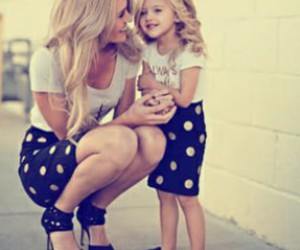 daughter, mom, and blonde image