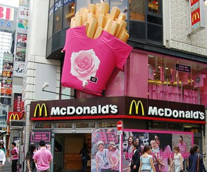 McDonalds, pink, and food image