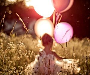 balloons, girl, and photography image