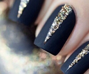 black, glam, and gold image