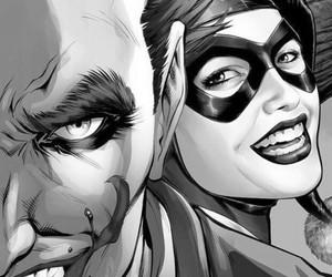 joker, harley quinn, and comic image