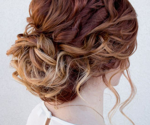 curly hair, ombre, and pretty hair image