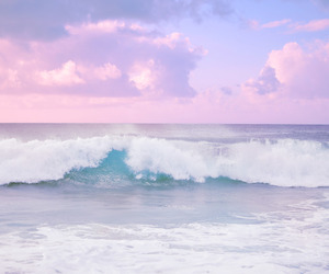 pink, sea, and pastel image