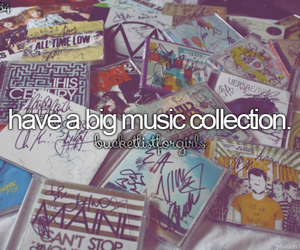 collection, music, and bucket list image