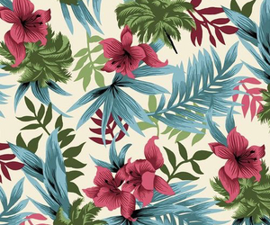 background, flowers, and tropical image