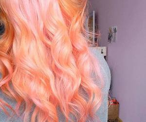 hair, pink, and orange image