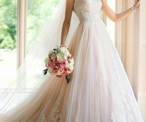 wedding dress, wedding, and dress image