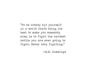 black and white, fighter, and quote image