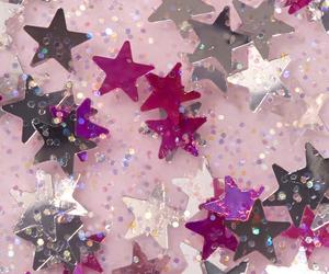stars, glitter, and pink image
