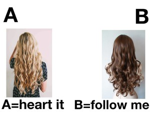 hair, blonde, and follow image