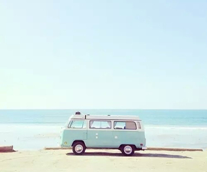 beach, car, and hipster image