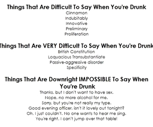 drunk, funny, and words image