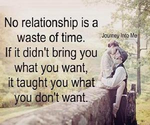 Relationship, want, and waste of time image