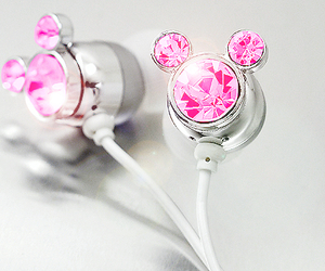 buds, headphones, and pink crystal image