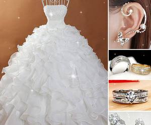 earrings, rings, and shoes image