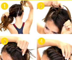 hair, style, and Easy image