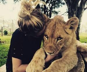 girl, cute, and animal image