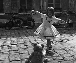 black and white, child, and dance image