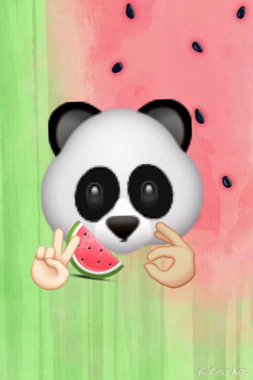 Image about panda in emoji backrounds by Baby Cakes