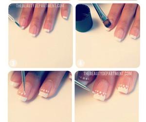 nails, french, and diy image