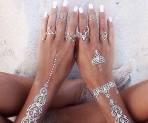beach, rings, and coachella image