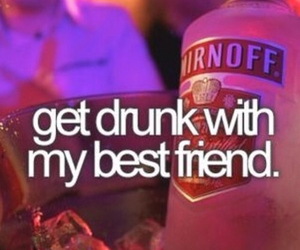 best friend, drink, and fun image