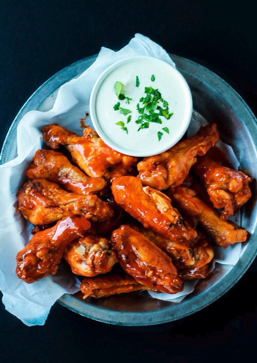 Chicken, food, and cream image