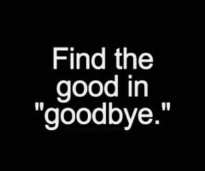 goodbye, black, and good image
