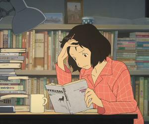 gif, anime, and study image