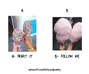 follow me, cotton candy, and food image