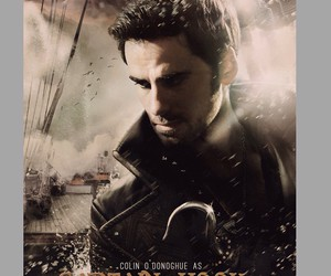 movie poster, once upon a time, and captain hook image