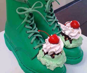 green, shoes, and ice cream image
