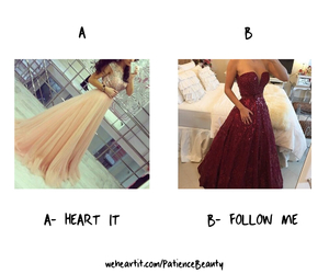 dress, red, and a or b image