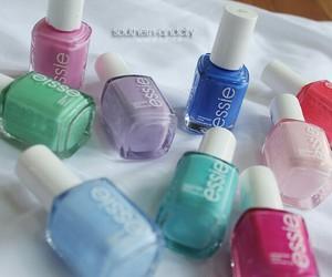 nail polish, essie, and blue image