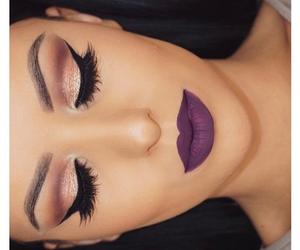 eyes, shadows, and lipstick image