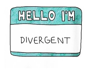 divergent, hello, and book image