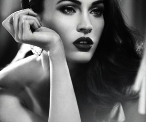 beauty, megan fox, and black and white image