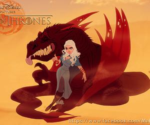 game of thrones, disney, and daenerys targaryen image
