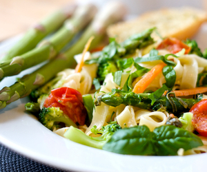 food, asparagus, and vegetables image